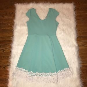 Charlotte Russe Mint Dress with white flowers